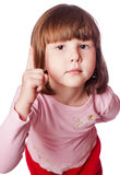 女孩有一个明亮的想法 免版税图库摄影