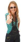 女孩查出的正年轻人 免版税图库摄影