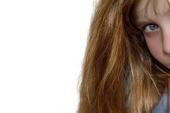 女孩查出的年轻人 免版税图库摄影