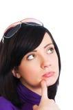 女孩查出的年轻人 免版税库存图片