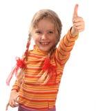 女孩桔子毛线衣 库存图片