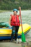女孩桨 免版税库存照片