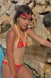 女孩泳装 免版税库存图片
