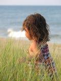 女孩海洋 库存照片