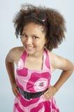 女孩混合的族种微笑 免版税库存照片