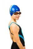 女孩游泳衣 免版税图库摄影