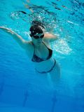 女孩游泳 库存照片
