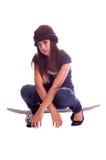 女孩溜冰者 免版税库存图片