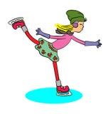 女孩溜冰鞋 库存照片