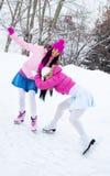 女孩滑冰二 图库摄影