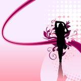 女孩漩涡 向量例证