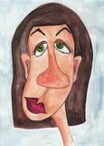 女孩漫画人物。具体化 免版税库存照片