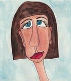 女孩漫画人物。具体化 图库摄影