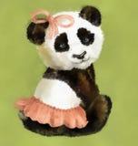 女孩熊猫 免版税库存照片