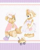 女孩玩具熊 皇族释放例证