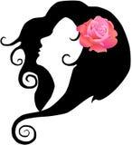 女孩玫瑰色向量 库存图片