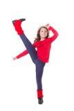 女孩现代跳舞 库存照片