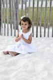 女孩现有量祈祷 免版税库存图片
