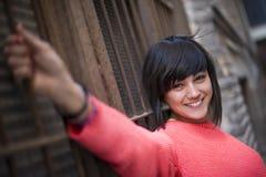 女孩现代年轻人 免版税库存图片