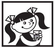 女孩玻璃 图库摄影
