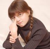女孩玻璃 免版税库存图片