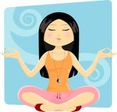 女孩瑜伽 库存照片
