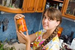 女孩瓶子 免版税图库摄影