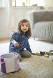 女孩甜的一点 免版税图库摄影