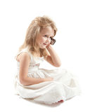 女孩白色 免版税库存图片