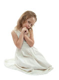 女孩白色 免版税库存照片