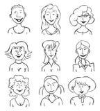 女孩的微笑的面孔 免版税图库摄影