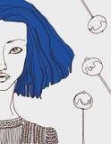 女孩的抽象图象 免版税库存照片