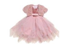 女孩的桃红色礼服。 库存图片