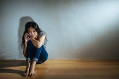 女孩的被打击的被滥用的妇女概念 图库摄影