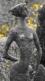 女孩的雕象 图库摄影