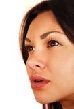 女孩的面孔 免版税库存图片