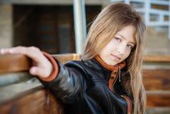 女孩的画象13年 免版税图库摄影