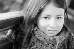 女孩的画象13年 图库摄影