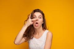 女孩的affectationes和情感 免版税库存图片