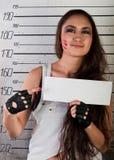 女孩监狱 免版税库存照片