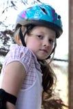 女孩盔甲佩带的一点 图库摄影