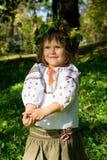 女孩相当微笑的乌克兰语 库存照片