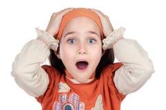 女孩相当惊奇了 免版税库存图片