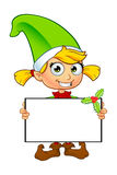女孩矮子字符以绿色 免版税图库摄影