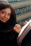 女孩研究 免版税图库摄影