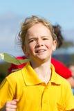 女孩种族体育运动 库存照片
