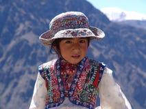 女孩秘鲁人 库存照片
