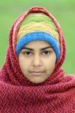 女孩穆斯林纵向 库存照片
