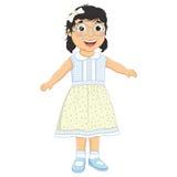 女孩笑的传染媒介例证 免版税库存图片