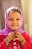 女孩笑的甜点 免版税库存图片